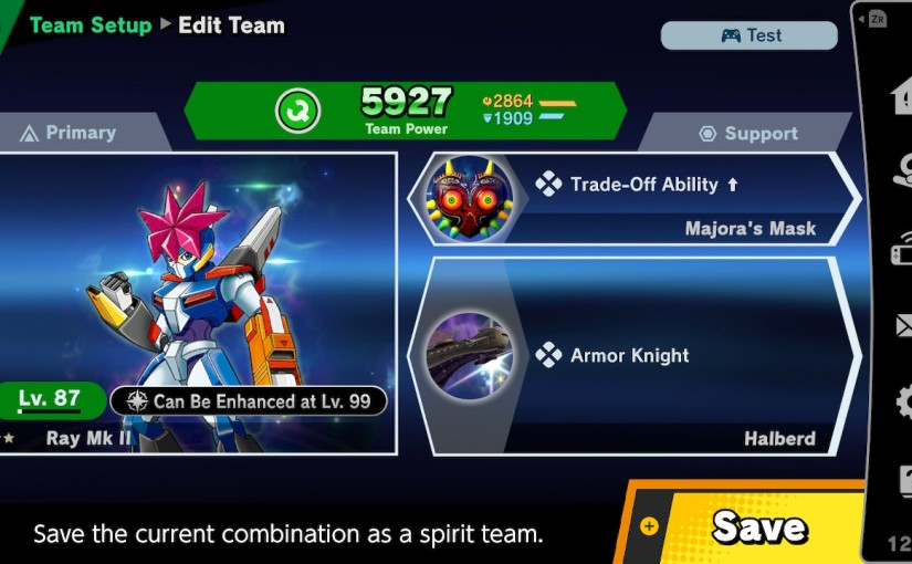 What Spirits should I equip to fight myamiibo?